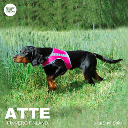 ATTE attention vest pink and size M photo: Suvi Salo