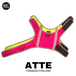 ATTE attention vest pink and yellow