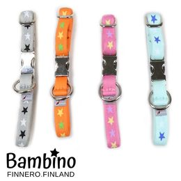 BAMBINO collars;  Harmony, Retro, Girly Pink and Blue Lagoon