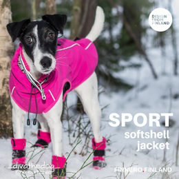 Diva wear SPORT softshell jacket size 40 cm photo: Tiina Korhonen/_divathedog_