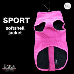 BRAVA SPORT pink softshell jacket for dog