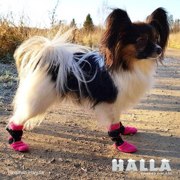 HALLA booties pink and size XXS photo: Tiinamari Harjula