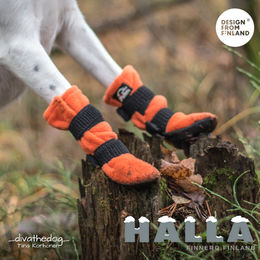 HALLA winter booties are better to use in wintertime. Diva's booties sizes are S: _divathedog_ Tiina Korhonen