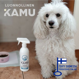 With KAMU - Cleaning spray Fresh you can conveniently wipe all your home´s surfaces, safely for your pet