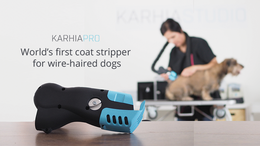 KARHIA is the world's first electric coat stripper for wire-haired dogs.