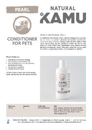 Natural KAMU conditioner PEARL in english