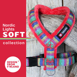 Nordic Lights Soft harness red