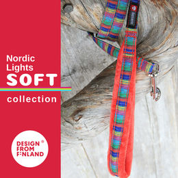 Nordic Lights Soft leash red