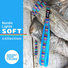 Nordic Lights Soft leash turquoise