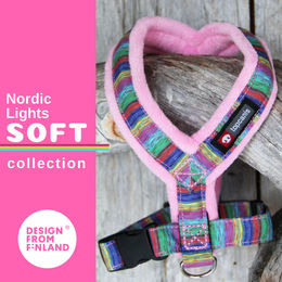 Nordic Lights Soft harness pink