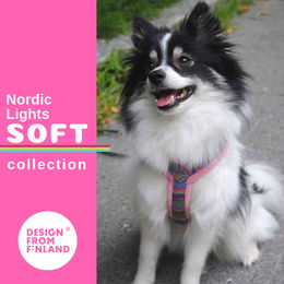 Pink Nordic Lights Soft harness size 25 cm