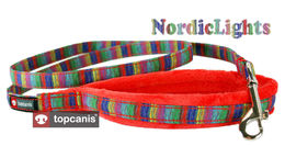 Nordic Lights leash red
