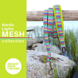 Nordic Lights Mesh leash lime