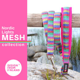 Nordic Lights Mesh leash pink