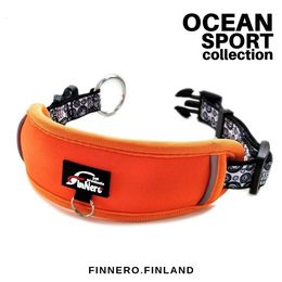OCEAN adjustable collar with orange padding