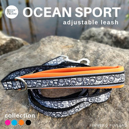 OCEAN SPORT adjustable leash orange