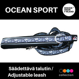 OCEAN SPORT adjustable leash with black padding in handle