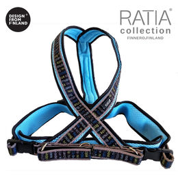 RATIA 8 shape Mesh harness sky blue