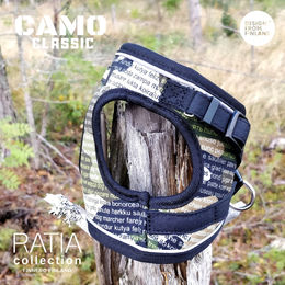 CAMO DOUBLE vest harness CLASSIC with black piping