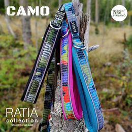 CAMO DOUBLE leashes Classic, Rainbow and Forest Lake