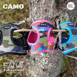 CAMO DOUBLE vest harness Classic, Rainbow and Forest Lake