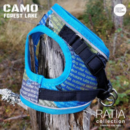CAMO DOUBLE vest harness Forest Lake-turquoise