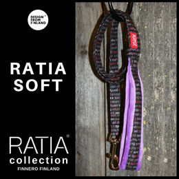 RATIA soft basic leash violet