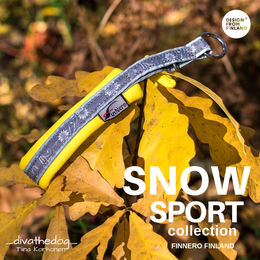 SNOW SPORT collar with yellow padding photo: Tiina Korhonen / _divathedog_