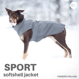 SPORT softshell jacket grey and size 55 cm photo: Miikku Pietilä / MiikKuvaan