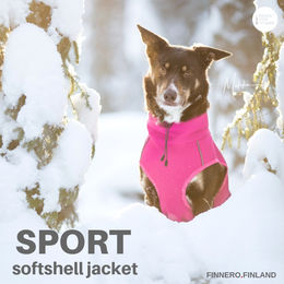 SPORT softshell jacket pink photo: Miikku Pietilä / MiikKuvaan