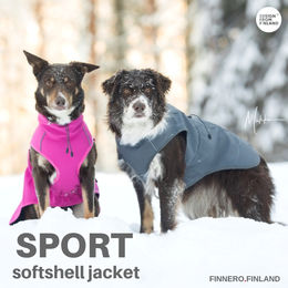 SPORT softshell jacket pink and grey photo: Miikku Pietilä / MiikKuvaan