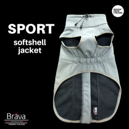 Grey BRAVA SPORT jacket to dogs