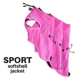 Finnero's pink SPORT softshell jacket for dogs