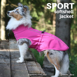 SPORT jacket pink and Alma photo: @sheltie_alma/ Jenni Juhajoki