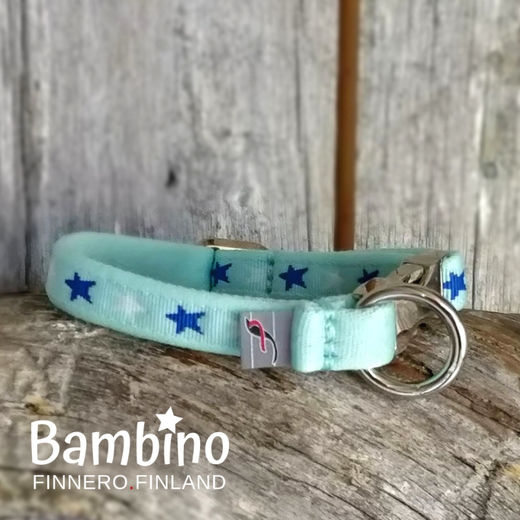 BAMBINO collar and color is Blue Lagoon