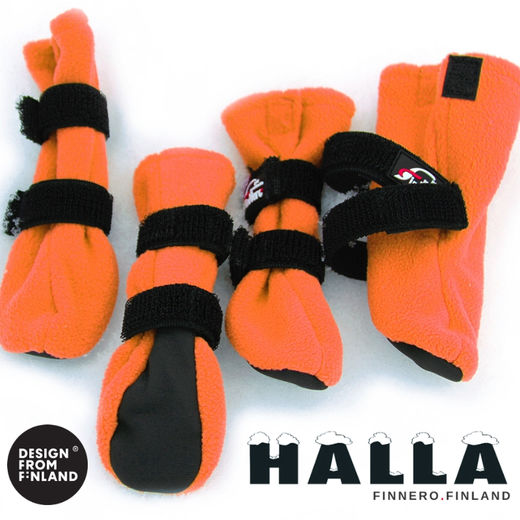 HALLA booties for dogs - orange