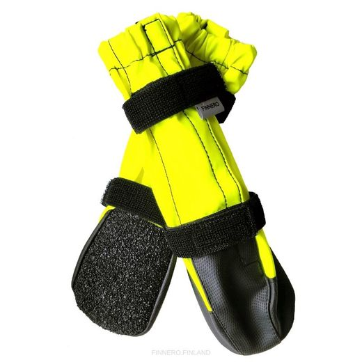 KURA protective booties for dog neon yellow