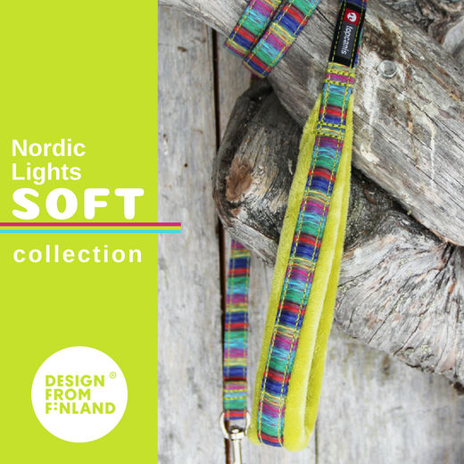 Nordic Lights Soft leash lime