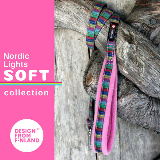 Nordic Lights Soft pink leash
