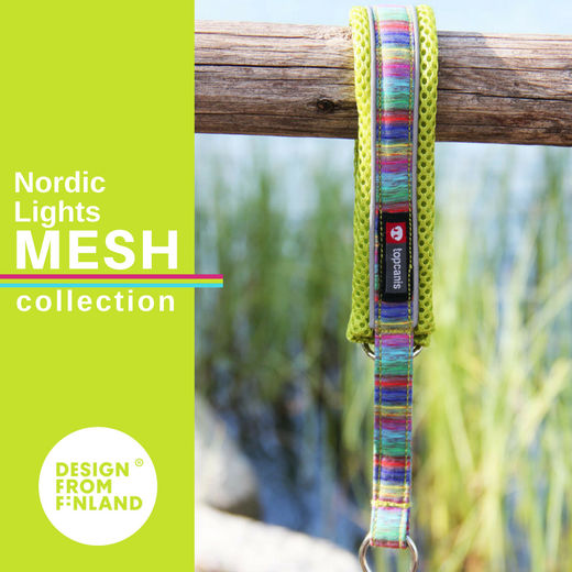 Nordic Lights Mesh collar lime
