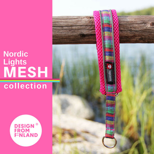 Nordic Lights Mesh collar pink