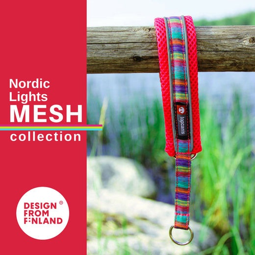Nordic Lights Mesh collar red