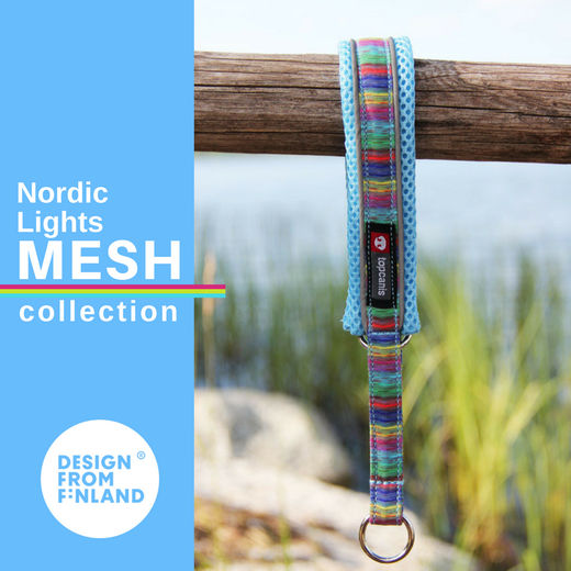 Nordic Lights Mesh collar sky blue