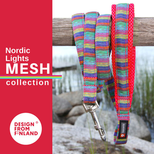 Nordic Lights Mesh leash red