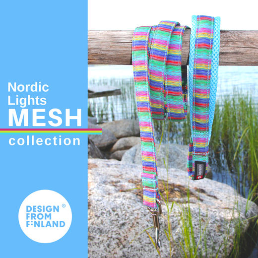 Nordic Lights Mesh leash sky blue