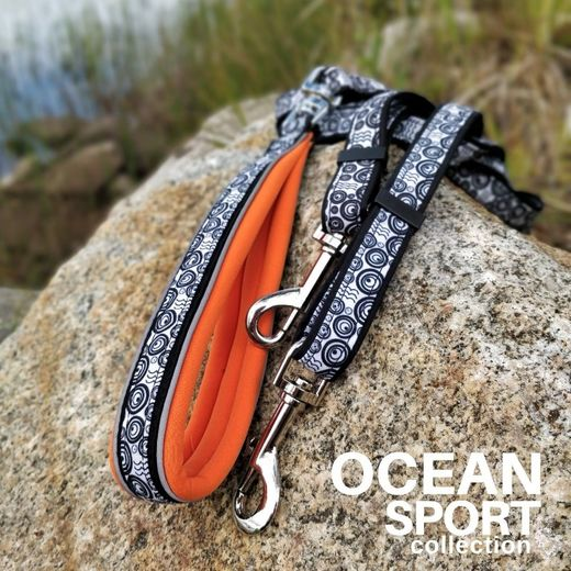 OCEAN DOUBLE adjustable leash orange photo: Tuula Pekkala