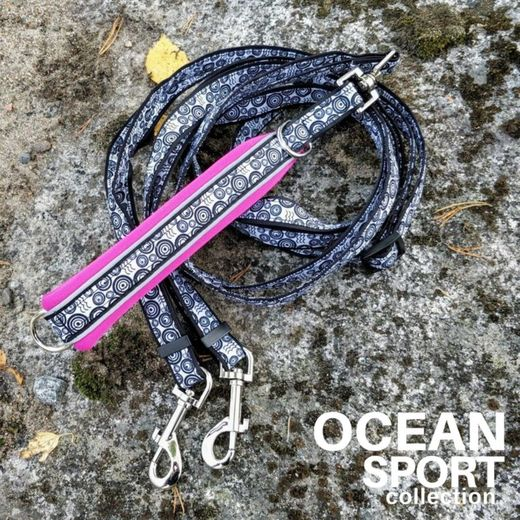OCEAN SPORT DOUBLE adjustable leash fuchsia photo: Tuula Pekkala / Finnero