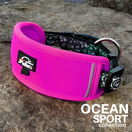 OCEAN SPORT adjustable collar fuchsia