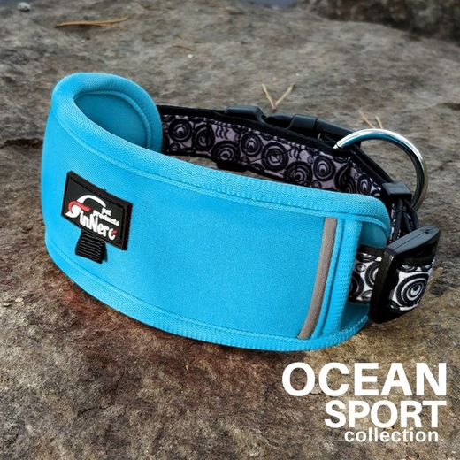 OCEAN SPORT adjustable collar turquoise