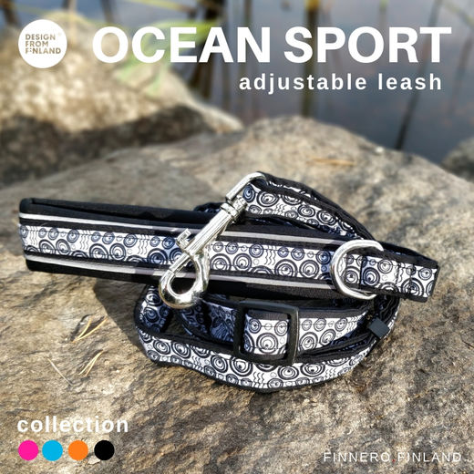 OCEAN SPORT adjustable leash black